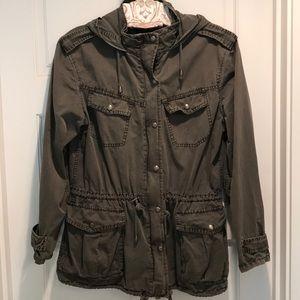 Buffalo David Bitton military style olive jacket